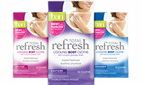 FREE Ban Total Refresh Cooling Cloths Sample