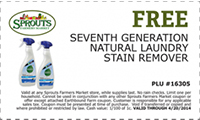 FREE Seventh Generation Laundry Stain Remover Spray at Sprouts Farmers Market